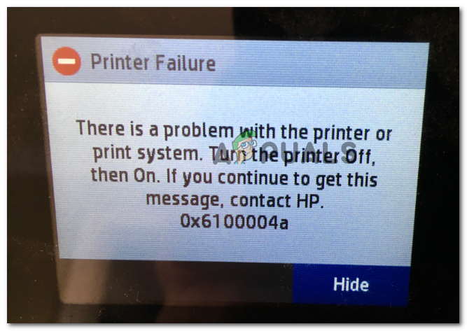 Как исправить ошибку принтера HP 0x6100004a?
