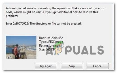 Как исправить ошибку 0x80070052 «Каталог или файл не могут быть созданы»
