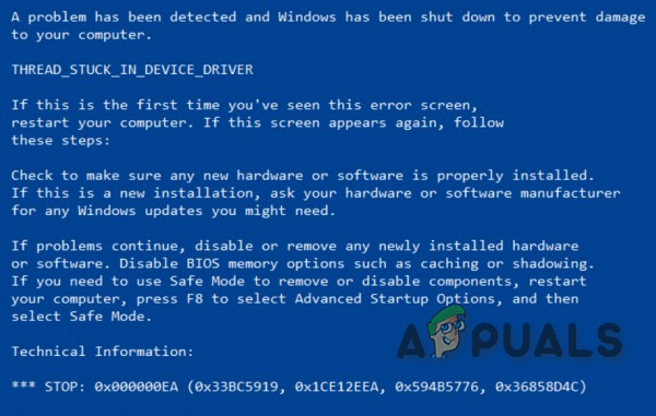 Fix 0x000000EA ошибка синего экрана