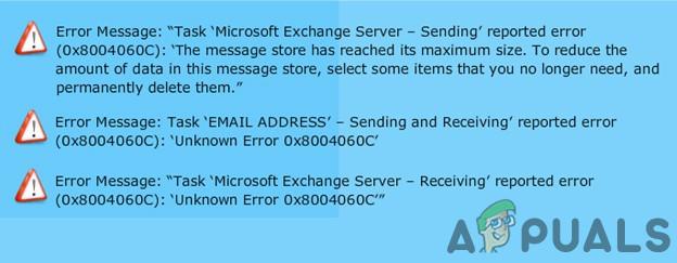 Исправлено: ошибка Outlook 0x8004060c