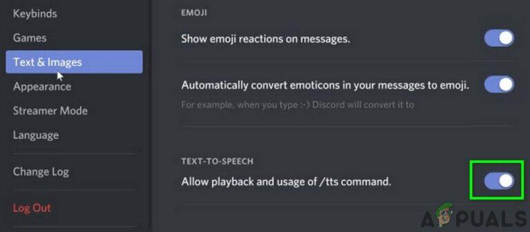 Исправлено: Discord TTS «Текст в речь» не работает