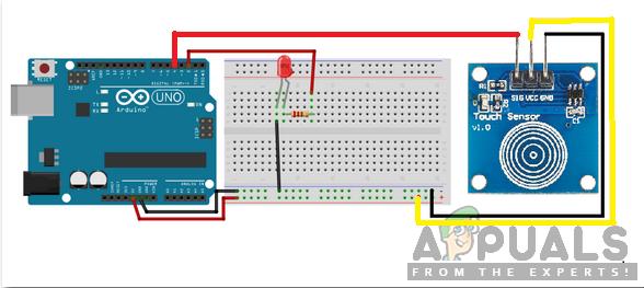Как спроектировать сенсорную диммерную схему с использованием Arduino?