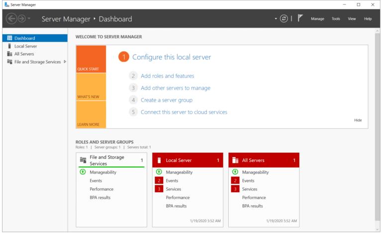Установите роль Hyper-V в Windows Server 2019