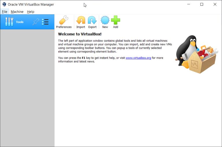Создайте свою первую виртуальную машину в Oracle VM VirtualBox