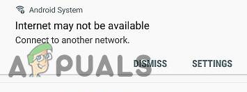 Исправьте ошибку «Интернет может быть недоступен» на устройствах Android