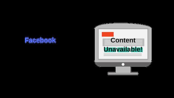 Почему Facebook с отображением контента недоступен?