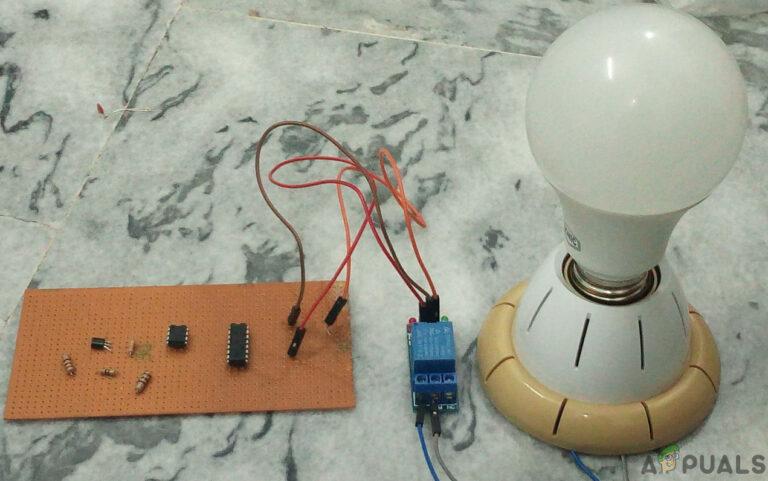 Как сделать цепь автоматического выключателя освещения туалета?