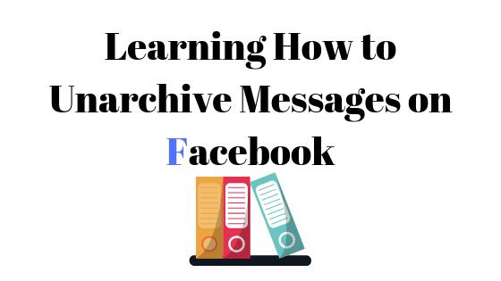Как разархивировать сообщения в Facebook