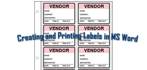 Создание и печать различных меток в Microsoft Word на профессиональном уровне