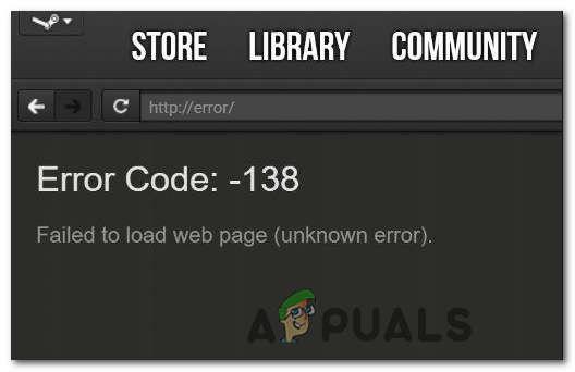 Код ошибки Steam -137 и -138 «Не удалось загрузить веб-страницу»