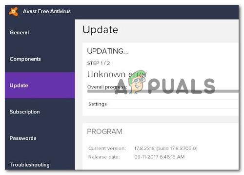 Как устранить «Ошибка обновления определений вирусов» в Avast Antivirus?