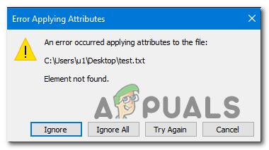 Исправлено «Ошибка при применении атрибутов к файлу» в Windows
