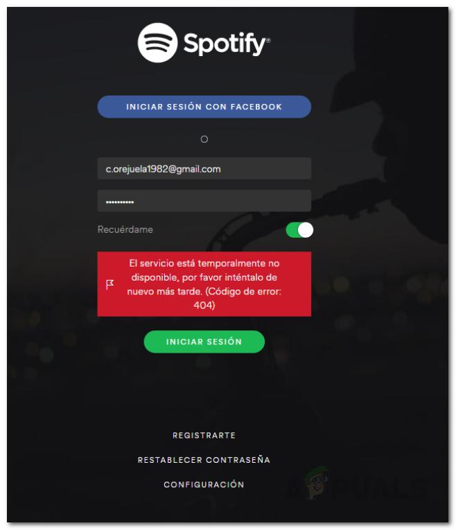Ошибка входа в Spotify 404: устранение неполадок
