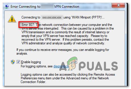 Как исправить ошибку VPN 807 в Windows?