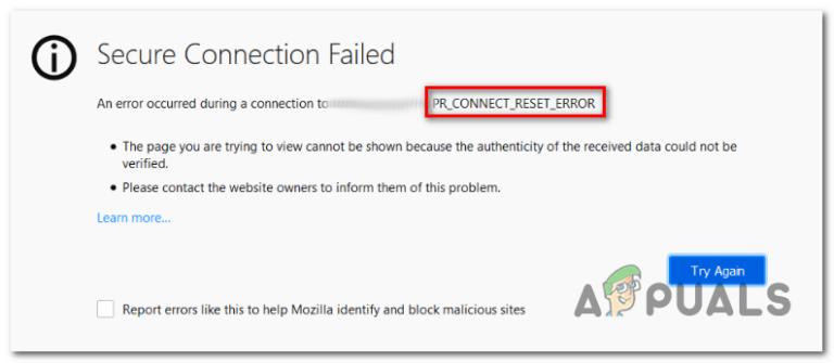 Как исправить ошибку PR CONNECT RESET в Mozilla Firefox?