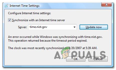 Как исправить ошибку, возникшую во время синхронизации Windows?