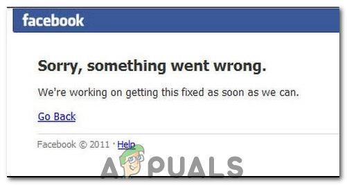 Ошибка входа в Facebook «Извините, что-то пошло не так»