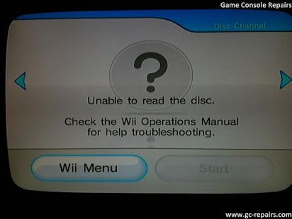 Невозможно прочитать диск на Wii