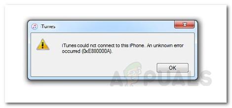 Устранение неполадок iTunes не удается подключиться «Неизвестная ошибка 0XE80000A»