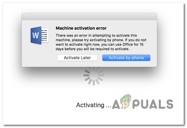 Как исправить ошибку активации машины с Word на MacOS и iOS