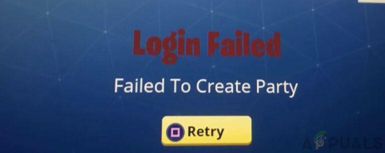 Не удалось создать партию Ошибка на Fortnite (Fix)