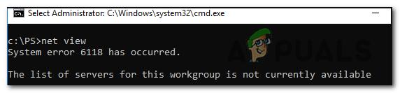 Исправлено: системная ошибка CMD 6118
