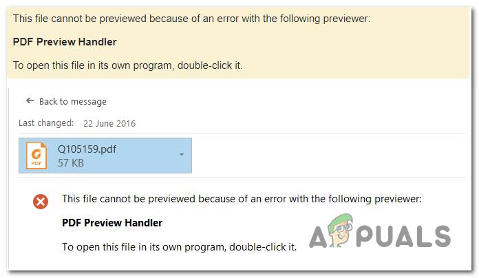 Исправлено: PDF Preview Handler «Этот файл нельзя просмотреть»