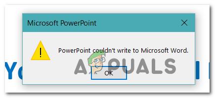 Как исправить Powerpoint Не удалось написать в Microsoft Word при создании раздаточных материалов?