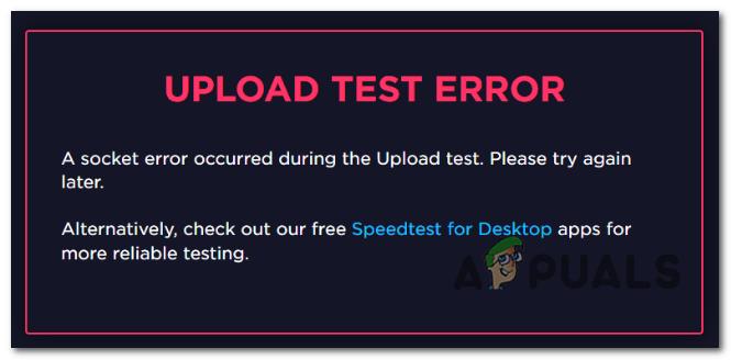 Как исправить ошибку сокета, возникшую на SpeedTest