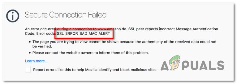 Как устранить ошибку Firefox 'SSL_Error_Bad_Mac_Alert'?