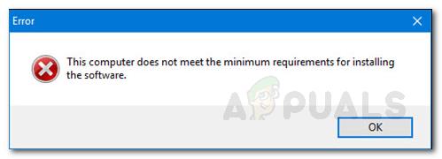 Ошибка: компьютер не соответствует ошибке минимальных требований при установке графического драйвера