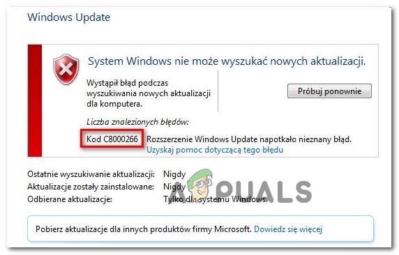 Как исправить ошибку обновления Windows 10 C8000266?
