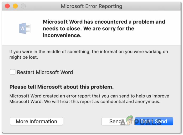 [FIX] Ошибка при открытии Word или Outlook на Mac (EXC_BAD_INSTRUCTION)