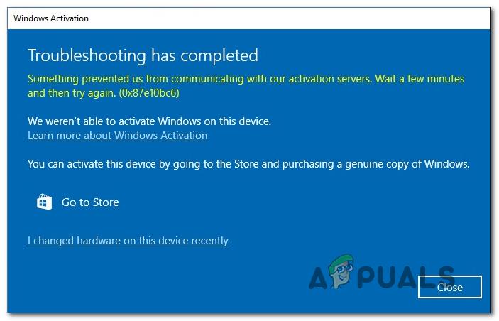 Как исправить ошибку Windows 10 с кодом 0X87E10BC6?