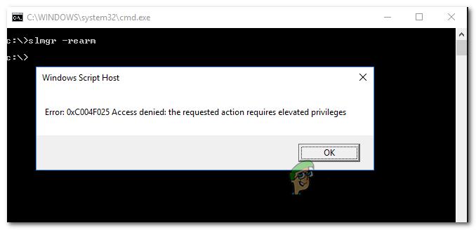 Как исправить ошибку активации Windows 0xc004f025 «Доступ запрещен»
