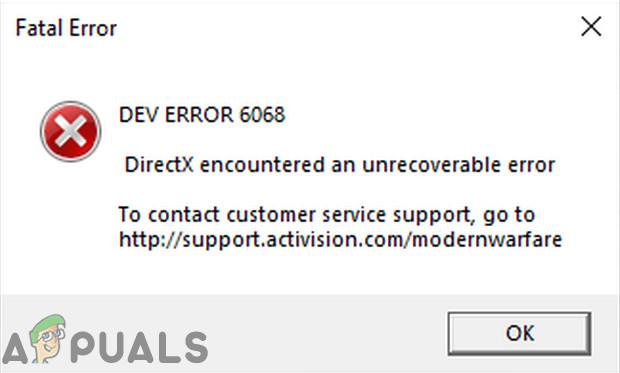 Как устранить неполадки и исправить Call of Duty Dev Error 6068