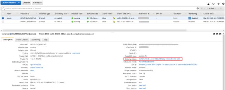 Как настроить правила безопасности в экземпляре Amazon EC2