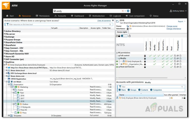 Как определить рекурсивные и пустые группы в Active Directory с помощью диспетчера прав доступа?
