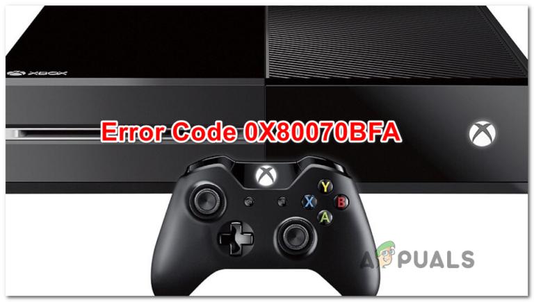 [Fix] Код ошибки Xbox One 0X80070BFA
