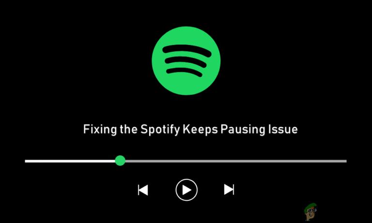 Исправлено: Spotify держит паузу в музыке