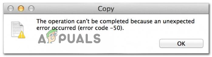 Как исправить код ошибки Mac -50