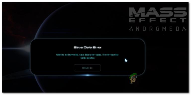 Как исправить Mass Effect Andromeda «Ошибка сохранения данных»