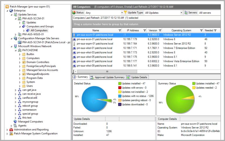 Как управлять сервером WSUS и синхронизировать его с обновлениями Microsoft?