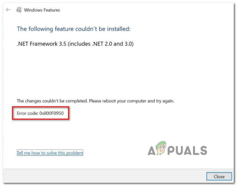 [FIX] Ошибка установки .NET Framework 3.5 0x800F0950