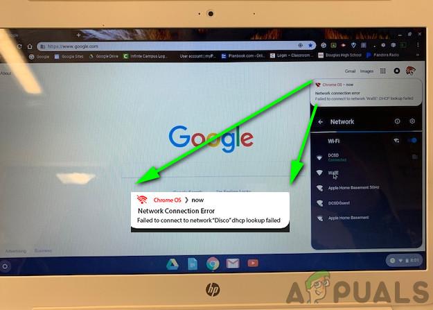 Исправлено: сбой поиска DHCP в Chromebook