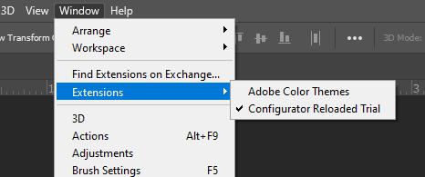 Как создать свои собственные панели Photoshop с помощью Configurator Reloaded