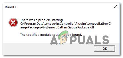 [FIX] Проблема запуска LenovoBatteryGaugePackage.dll – Appuals.com