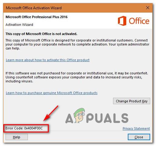 [FIX] Ошибка активации Microsoft Office 0X4004F00C