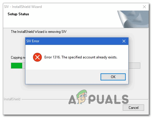 [FIX] «Указанная учетная запись уже существует» (ошибка 1316) в мастере InstallShield