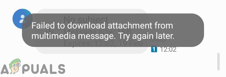 Исправлено: не удалось загрузить вложение из мультимедийного сообщения